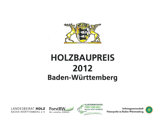 Wood Construction Award Baden-Wuerttemberg: Special Award Innovation