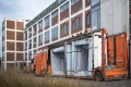 16.11.2017 Apolda: Anlieferung und Aufbau des Timber prototype am Eiermannbau in Apolda. / Internationale Bauausstellung Thüringen IBA / Foto: Thomas Müller