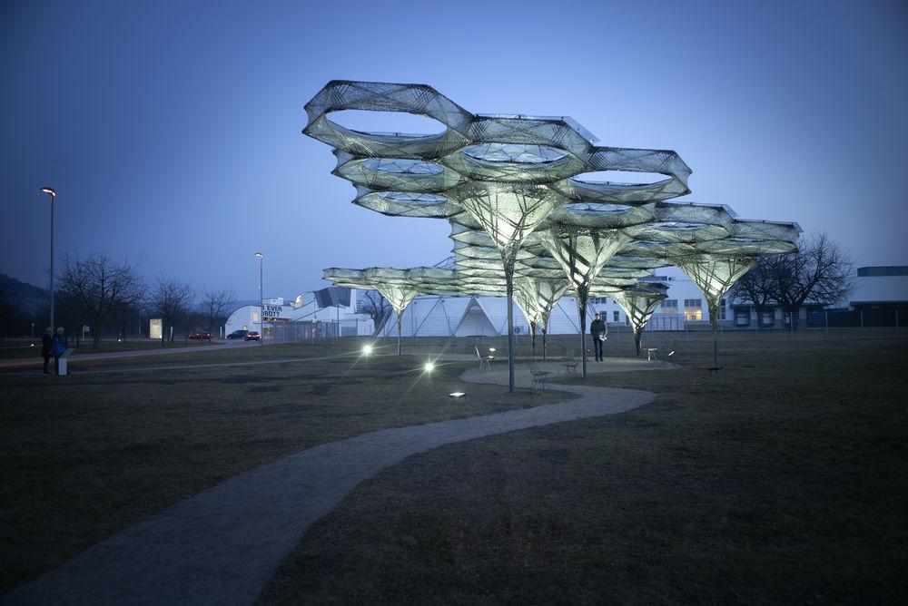 Elytra Filament Pavilion Vitra Campus Achimmenges Net