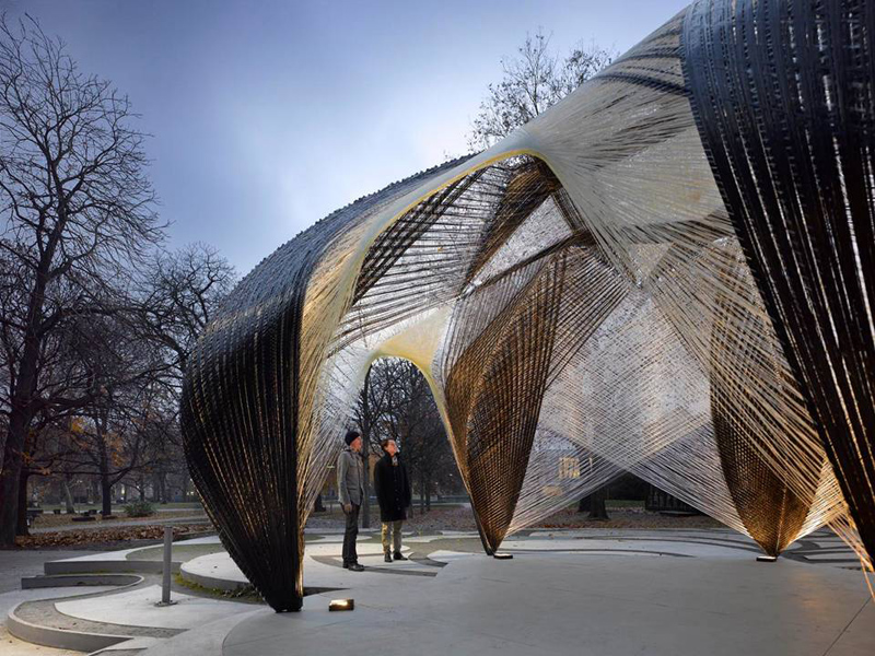 Icd itke research pavilion 2012 for Pavilion architecture design