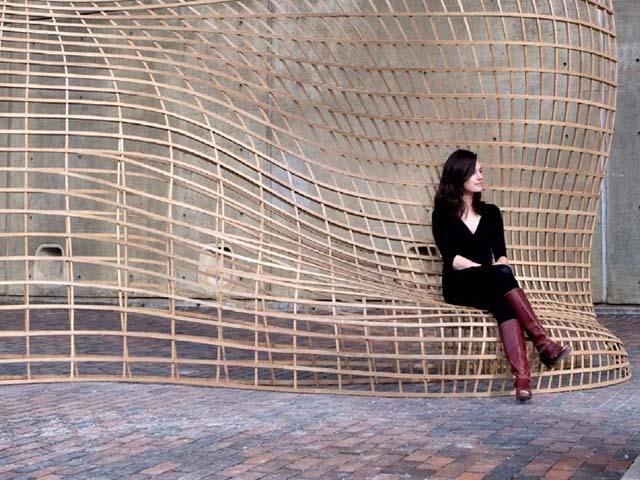 Steam Bent Wood Lattice Morphology Achimmenges Net